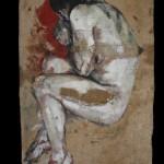 Arrufat - Acrílico sobre saco. 62×144 cm