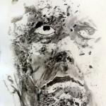 Terragrafia - Acrilico, tierra, carbón sobre papel. 50×70 cm