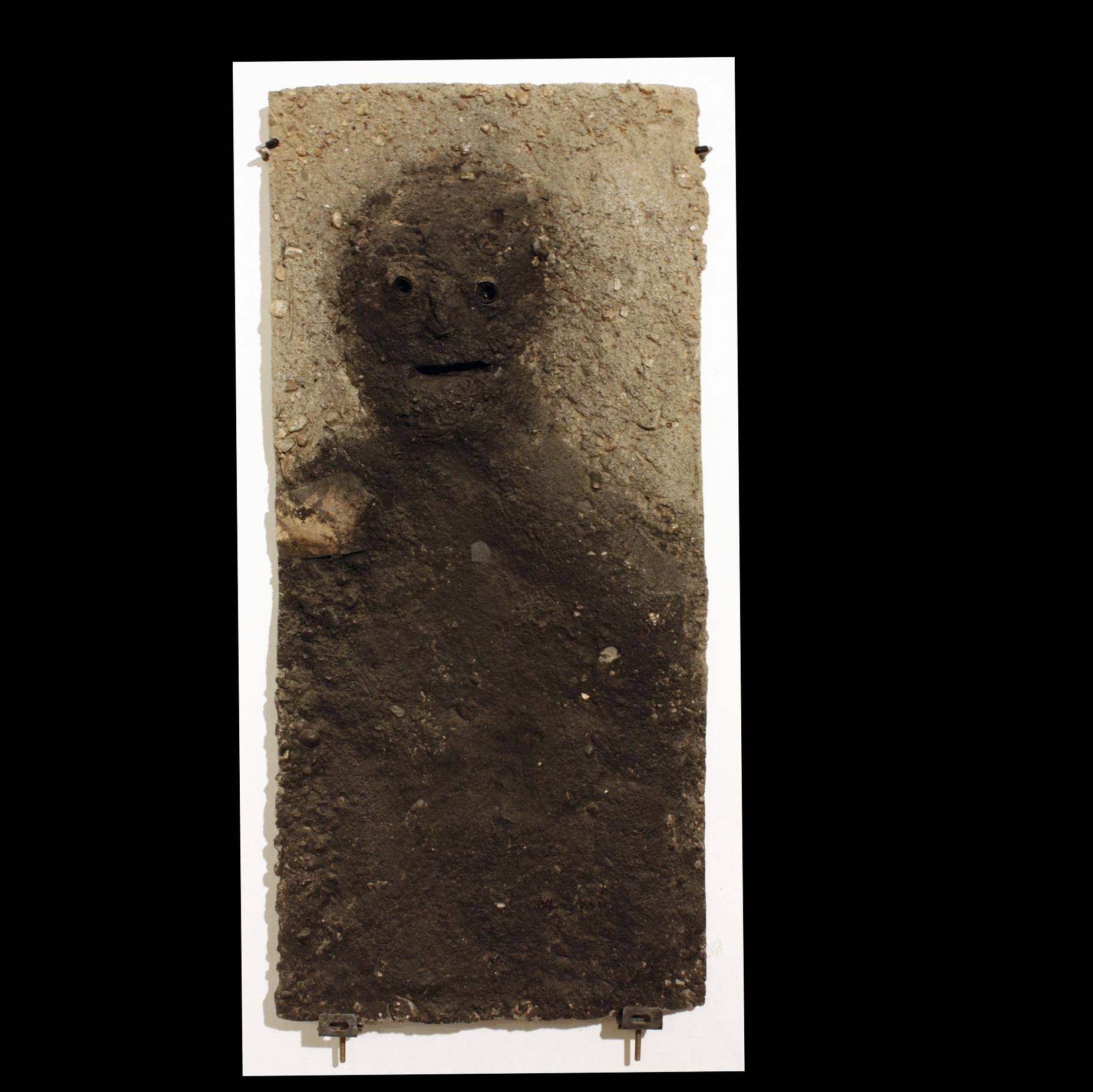 Concrete, coal, dust. 43x91x12cm. 3000€